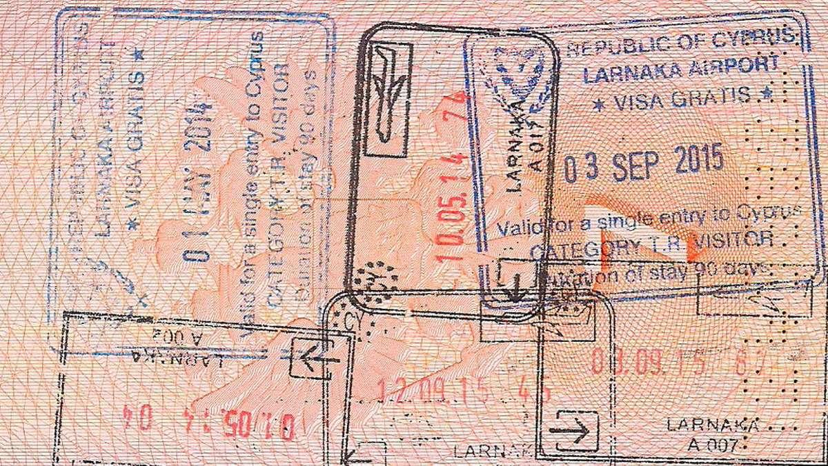 Виза Кипра в загранпаспорте