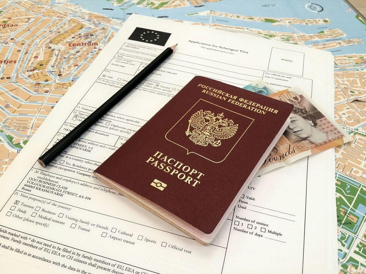 Готовое для подписания заявление на шенген