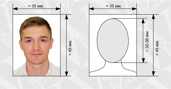 Размеры фото для итальянского шенгена