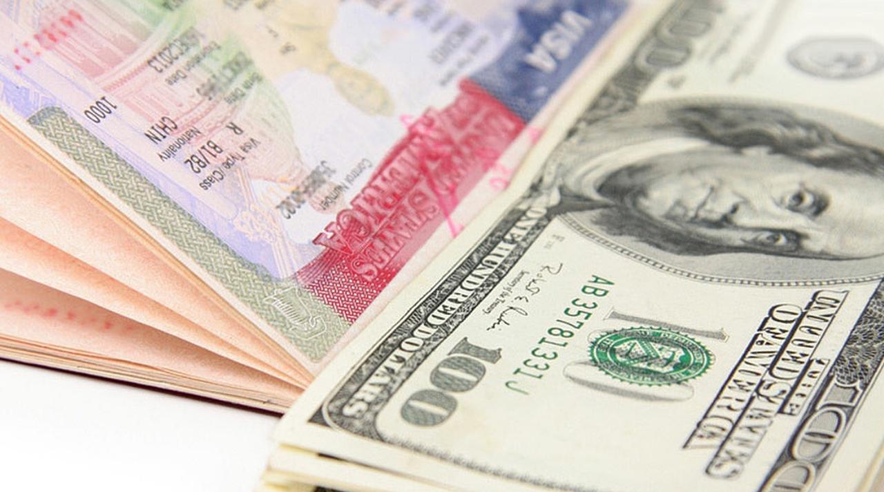 Деньги в паспорте на визу в Америку