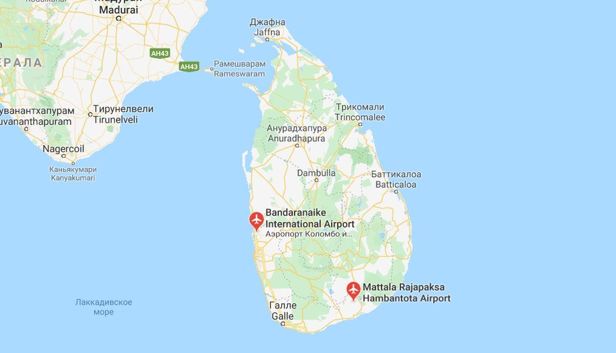 Аэропорты острова Шри-Ланка