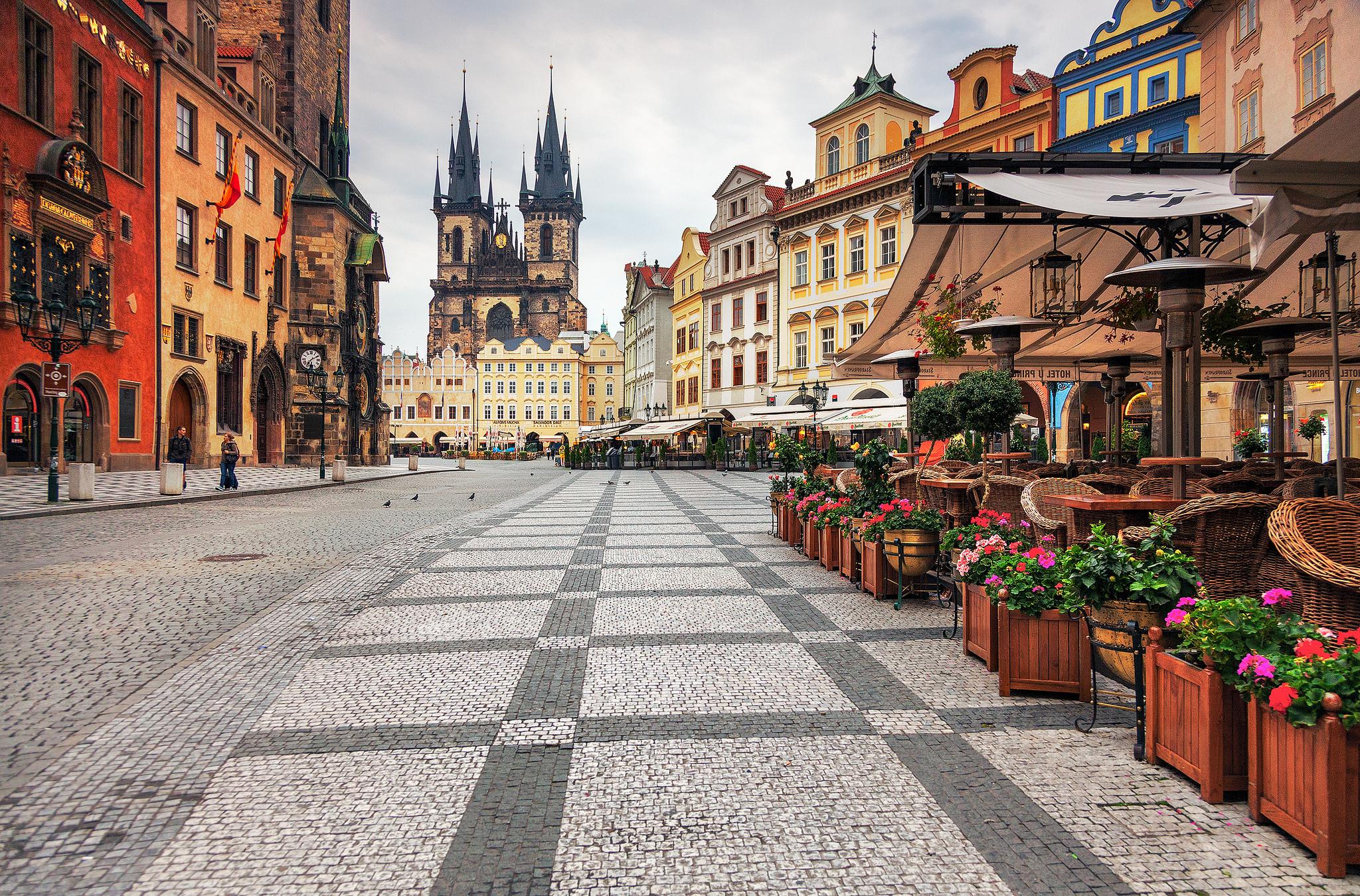 Мостовая в Праге