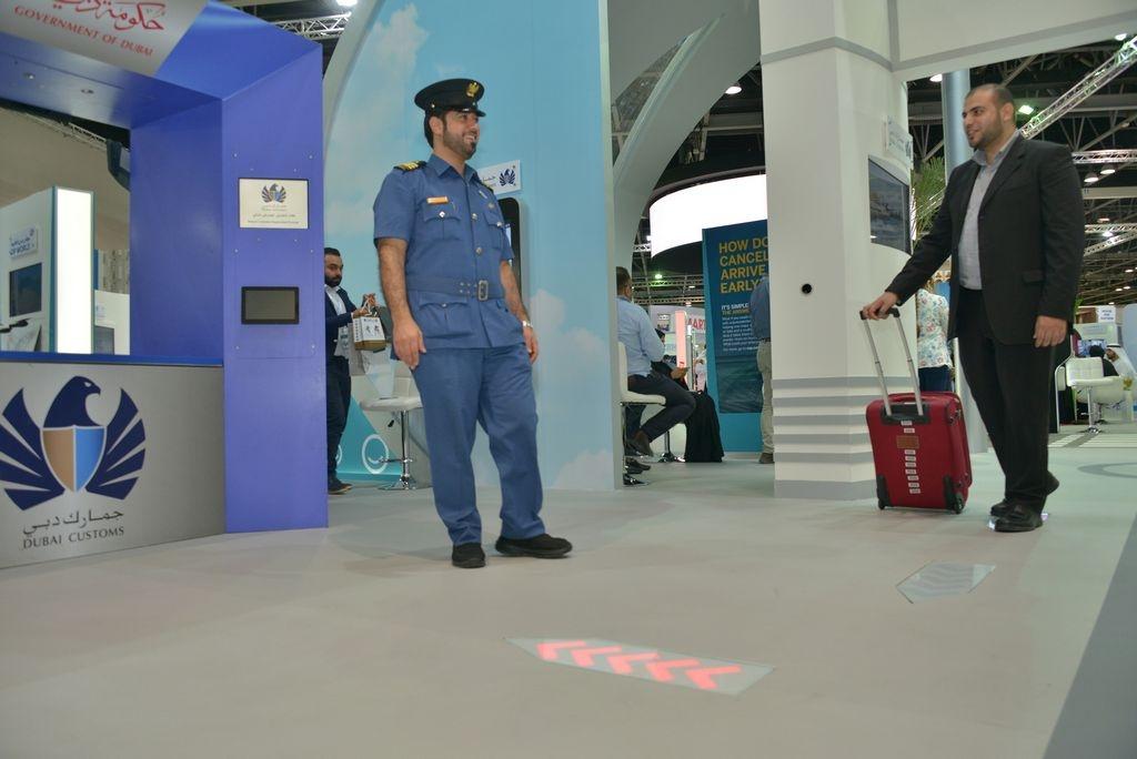 Красный коридор в аэропорту Дубая