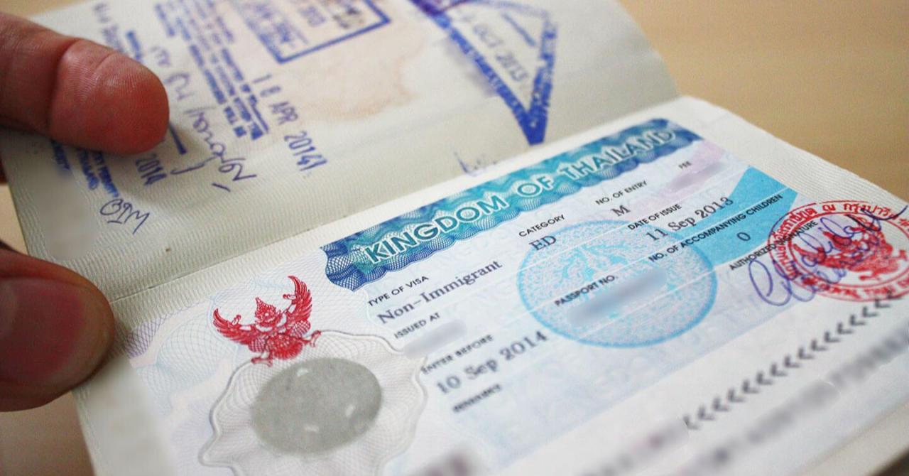 Тайская национальная виза в паспорте