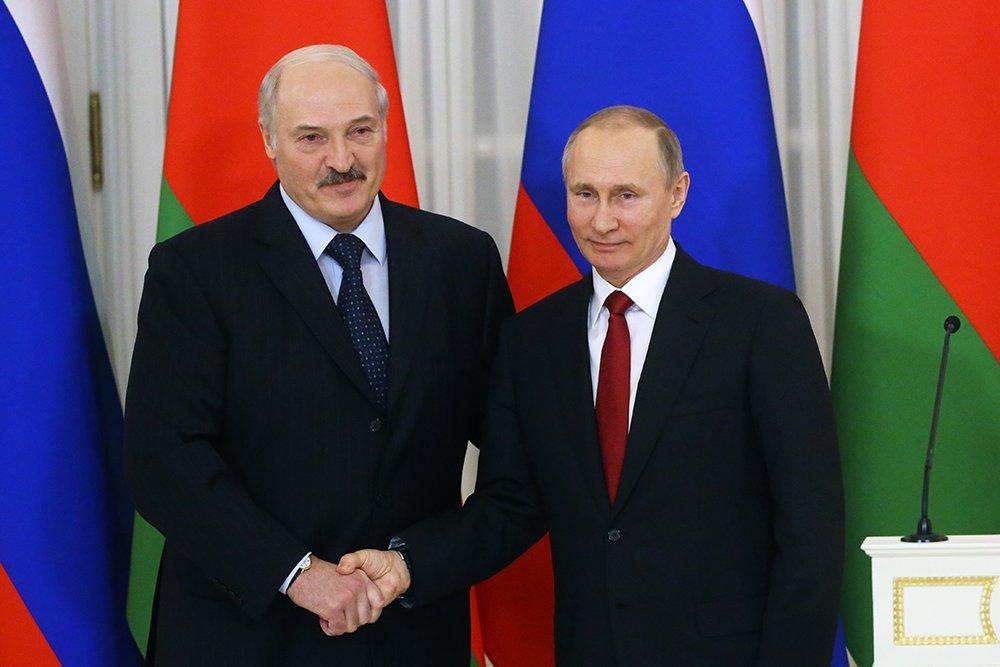 Встреча президентов России и Белоруссии