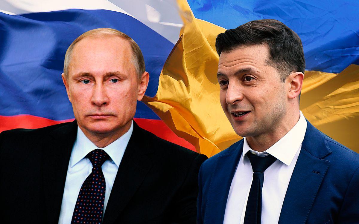 Президенты Путин и Зеленский