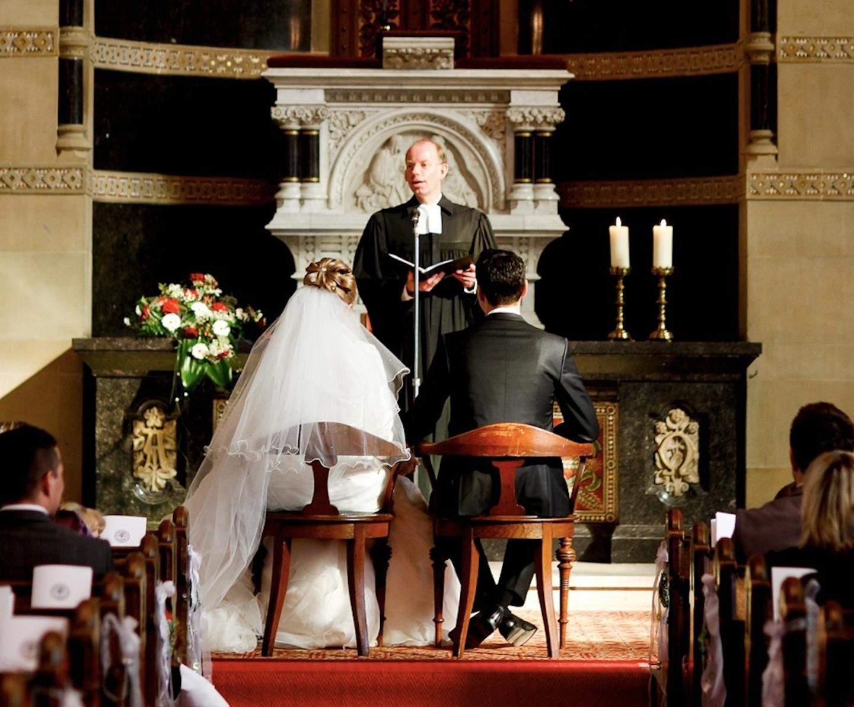 Свдебная церемония в немецкой церкви