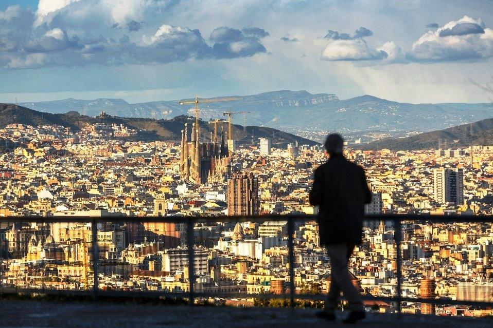 Панорама с видом на Барселону