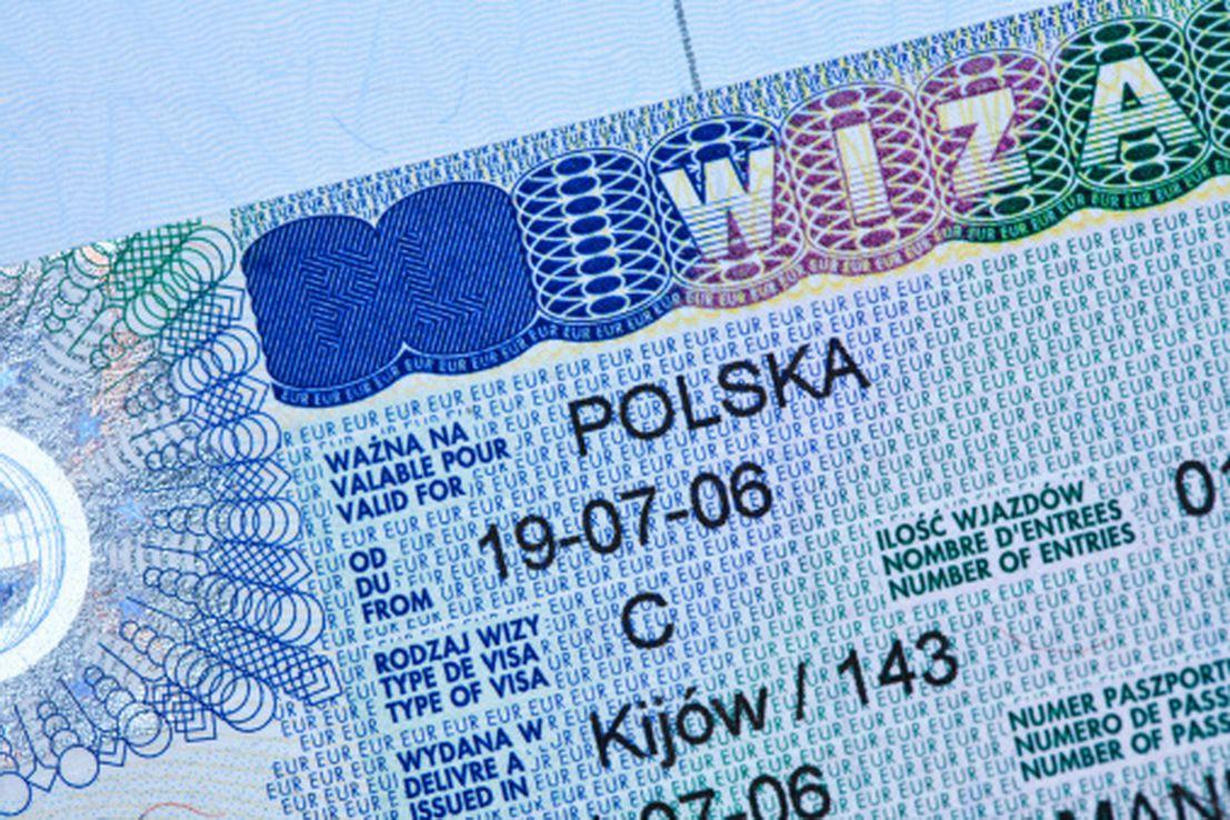Польский шенген, вклеенный в паспорт