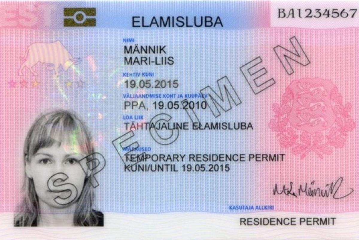 Биометрическая карточка с разрешением на временное проживание