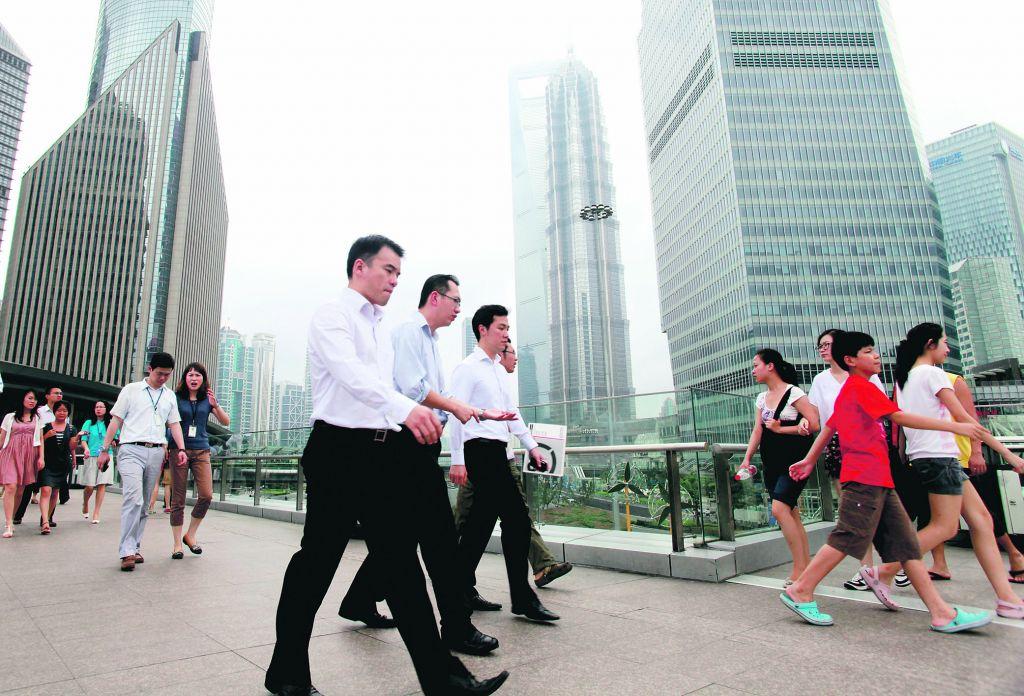 Офисные рабочие в Гонконге