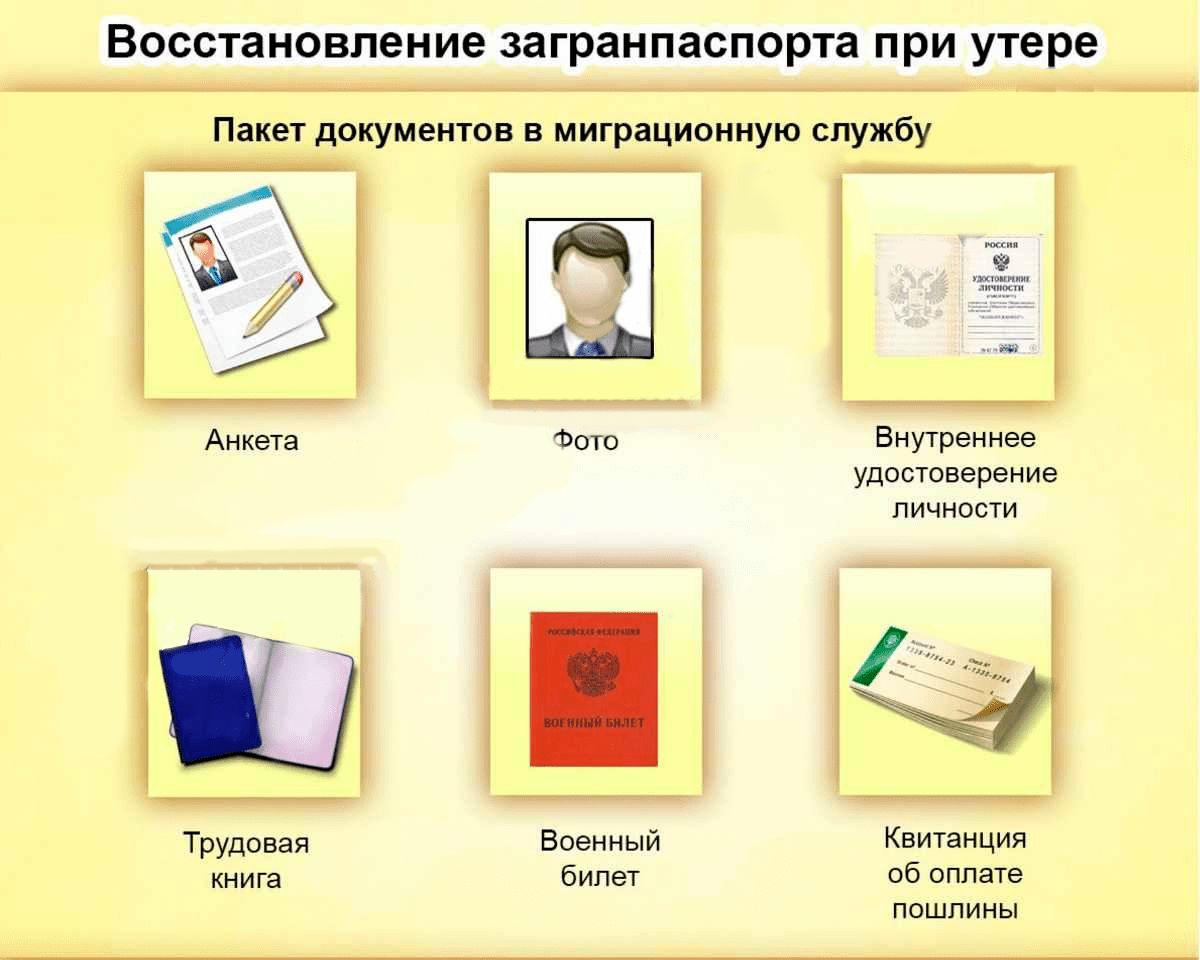 Перечень документов для восстановления загранника