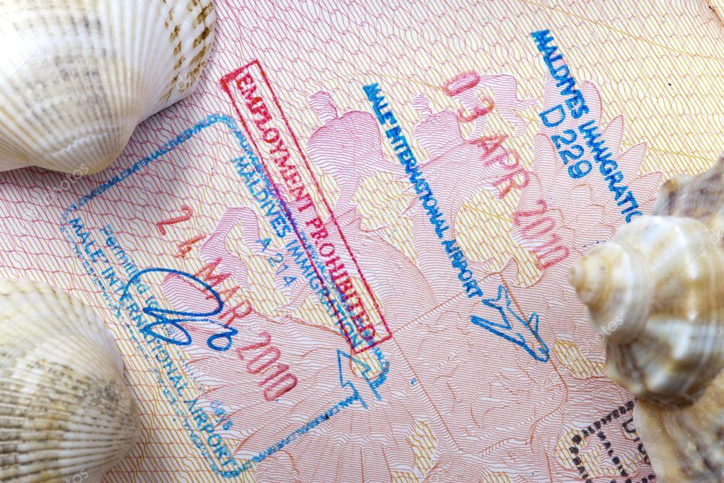 Въездной штамп Мальдив