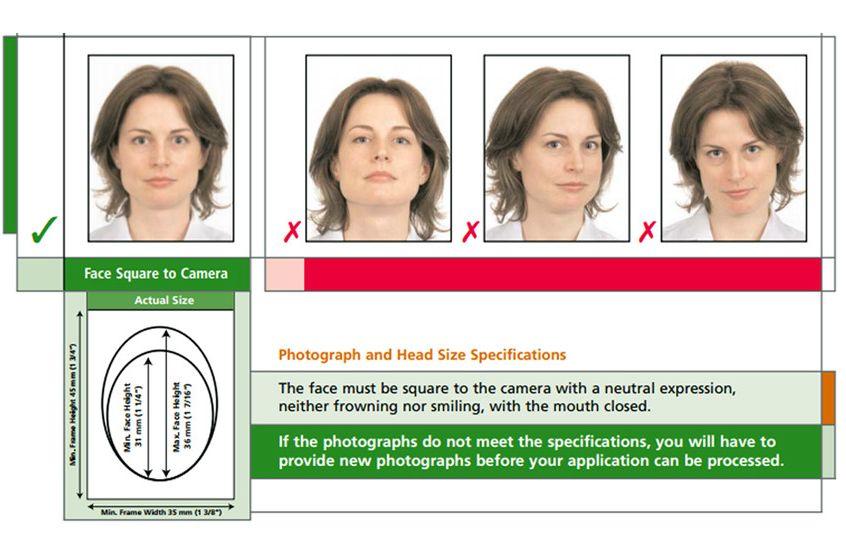 Требования к фото на канадскую визу