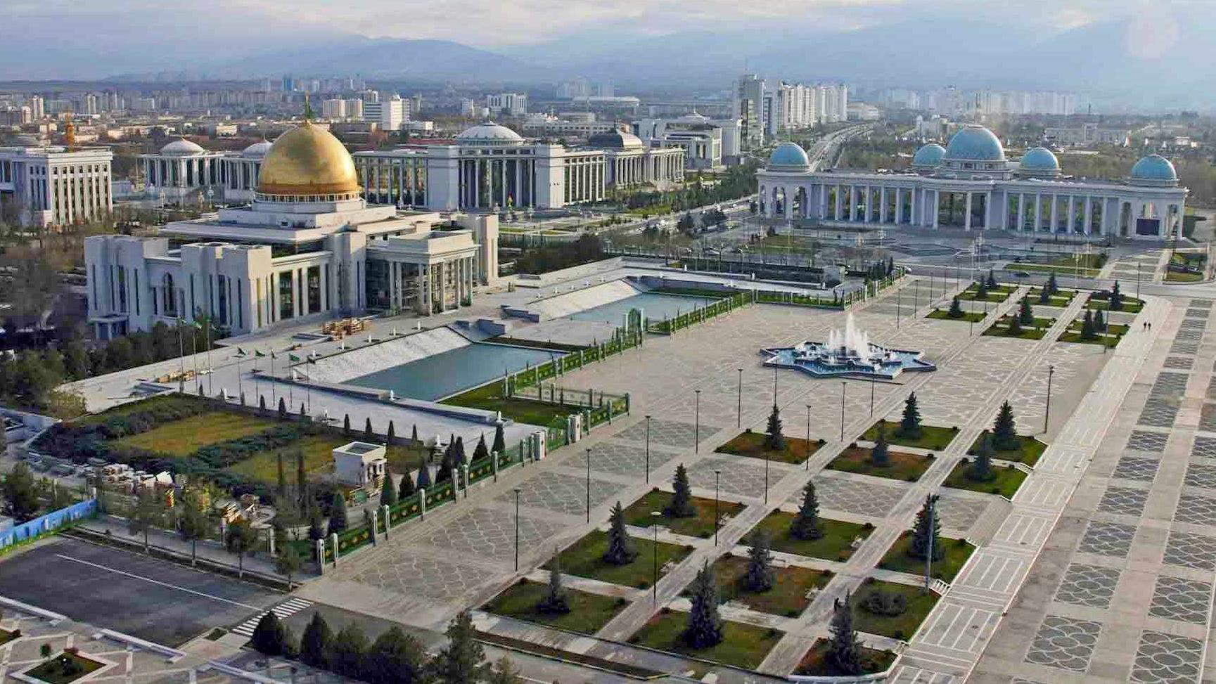 Панорама улиц Ашхабада