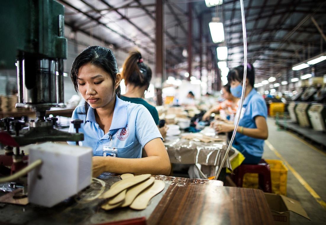 Работа на фабрике во Вьетнаме