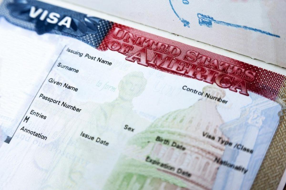 Пустой бланк американской визы