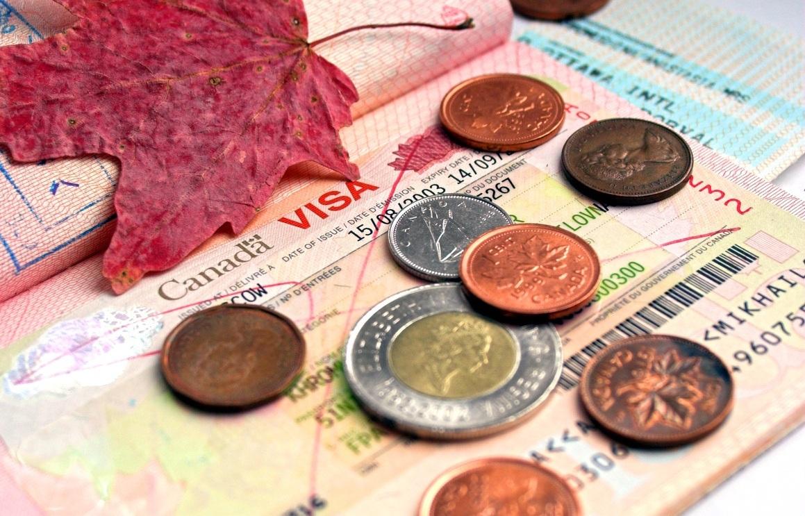 Монеты, оставшиеся после поездки в Канаду