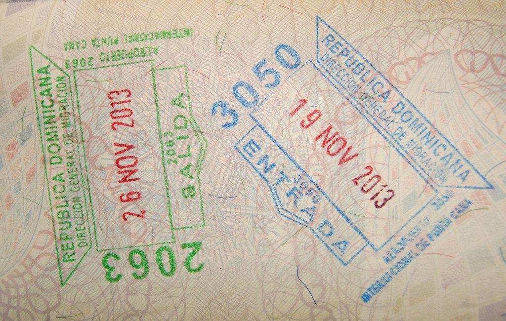 Доминиканские штампы в загранпаспорте