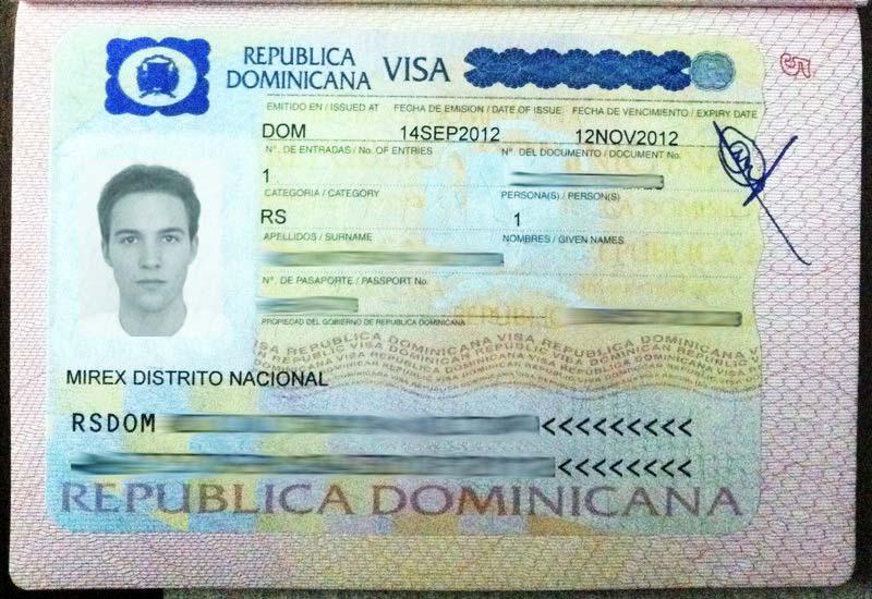 Национальная виза в Доминикану
