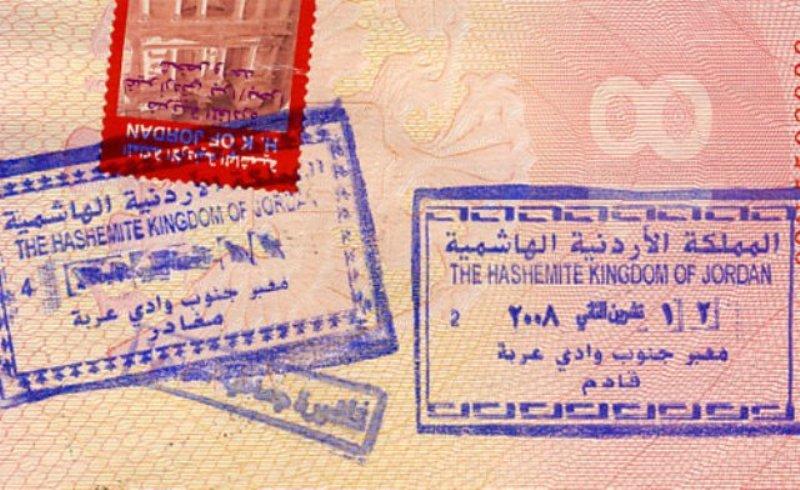 Въездной штамп Иордании в паспорте