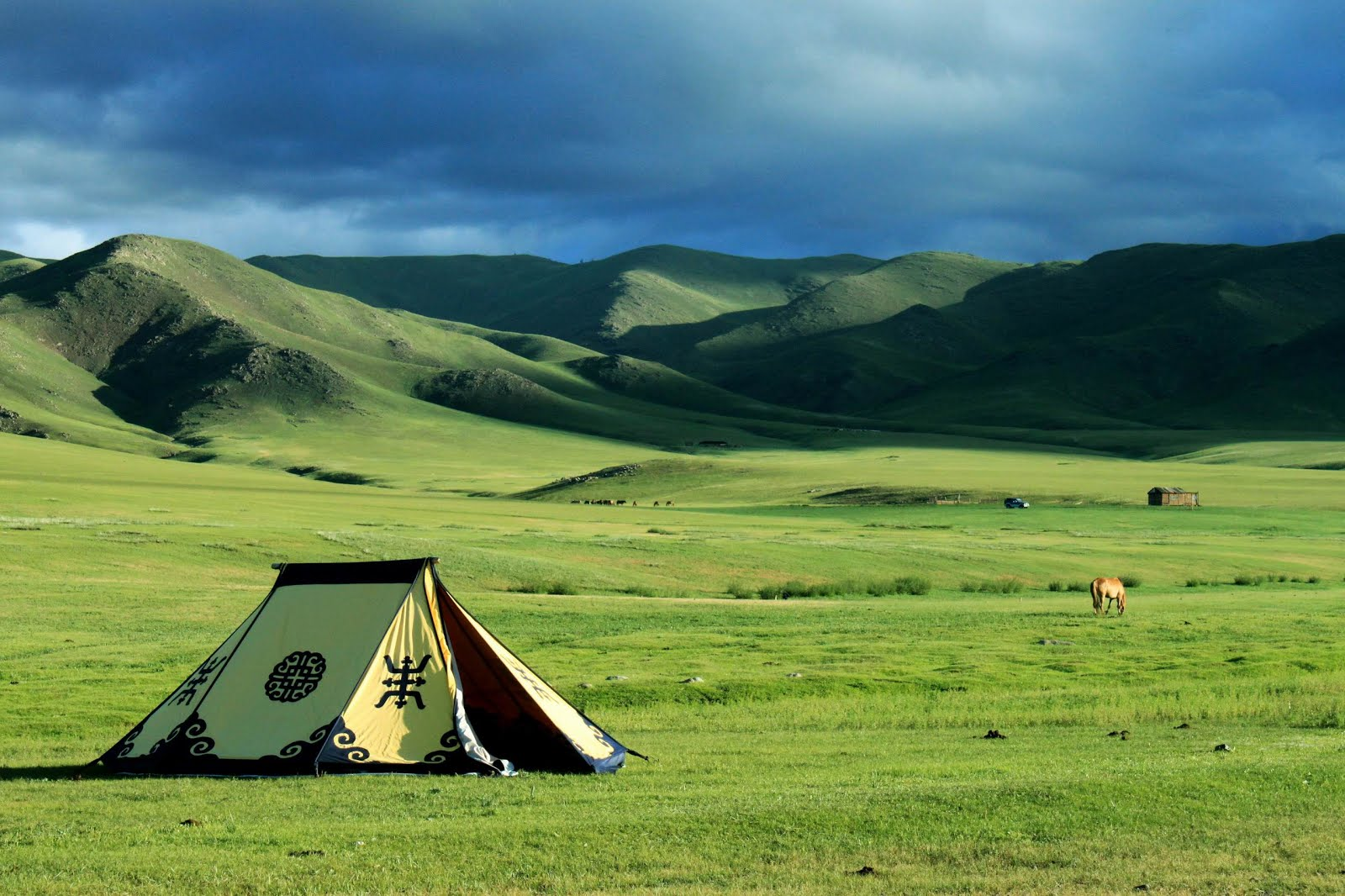 Природа и просторы в Монголии