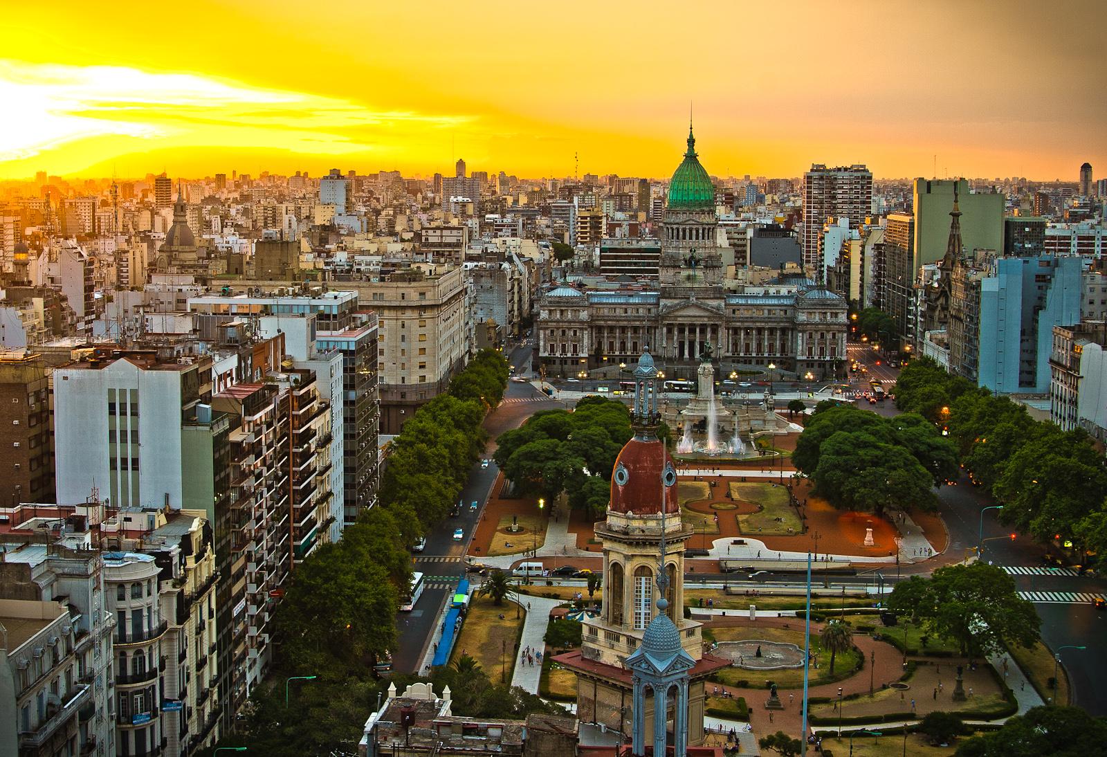 Панорама на Буэнос-Айрес