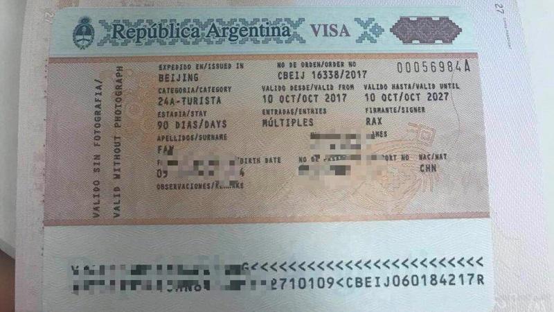 Национальная аргентинская виза